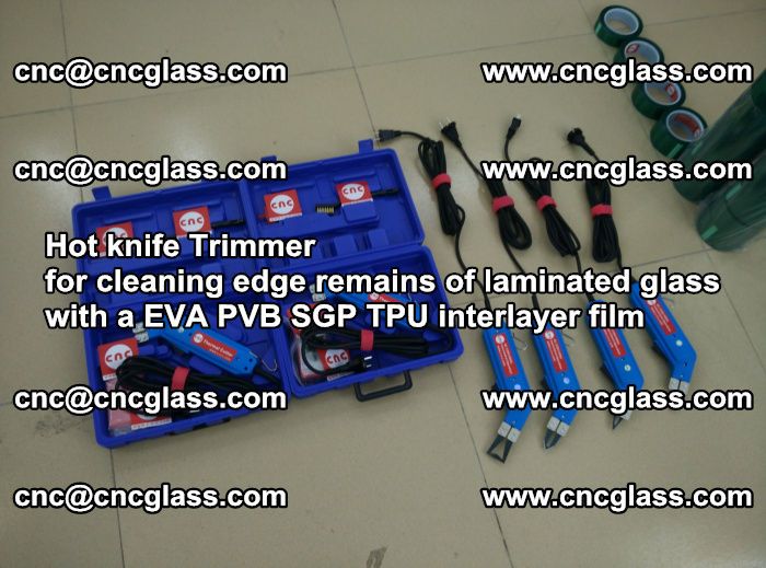 Hot knife Trimmer for cleaning edge remains of laminated glass with a EVA PVB SGP TPU interlayer film (1)