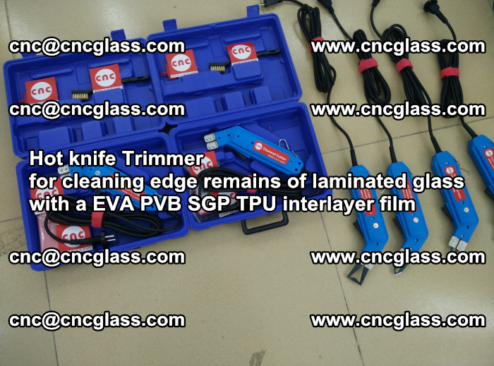 Hot knife Trimmer for cleaning edge remains of laminated glass with a EVA PVB SGP TPU interlayer film (20)