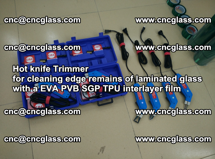 Hot knife Trimmer for cleaning edge remains of laminated glass with a EVA PVB SGP TPU interlayer film (4)