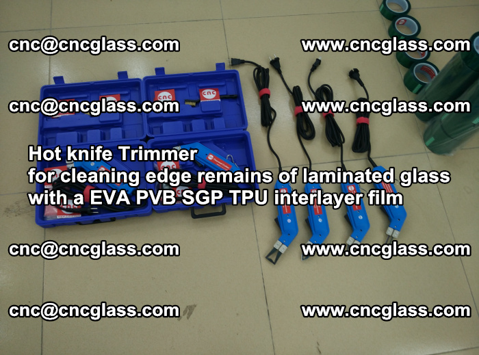 Hot knife Trimmer for cleaning edge remains of laminated glass with a EVA PVB SGP TPU interlayer film (48)