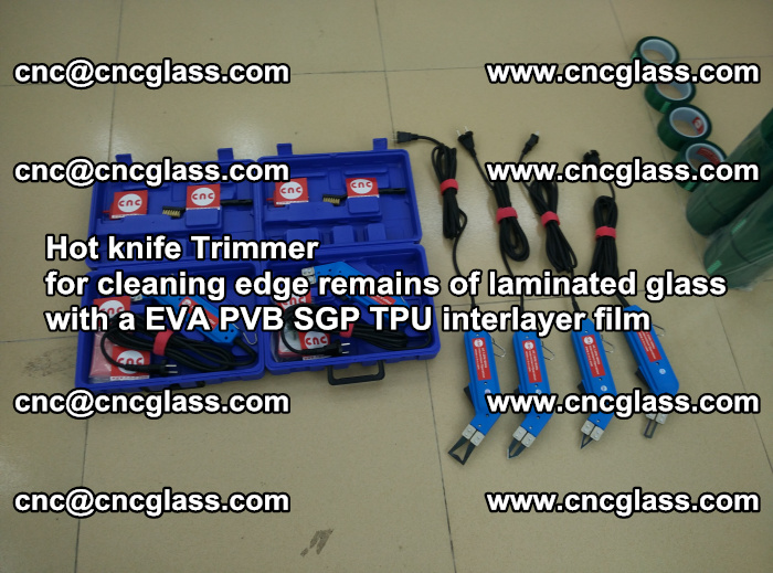 Hot knife Trimmer for cleaning edge remains of laminated glass with a EVA PVB SGP TPU interlayer film (53)