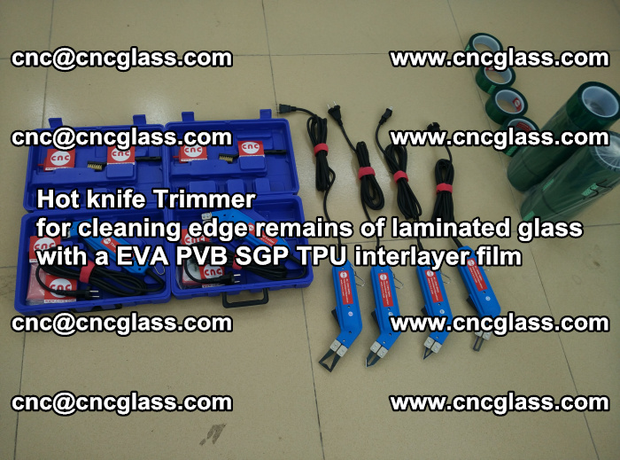 Hot knife Trimmer for cleaning edge remains of laminated glass with a EVA PVB SGP TPU interlayer film (57)