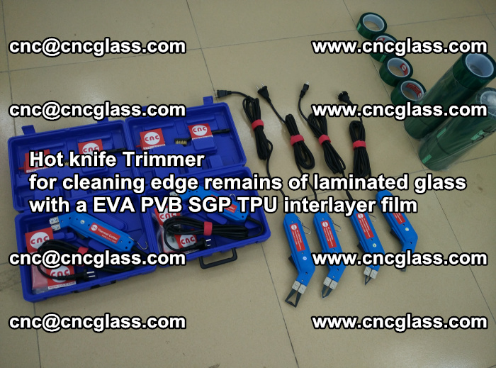 Hot knife Trimmer for cleaning edge remains of laminated glass with a EVA PVB SGP TPU interlayer film (7)
