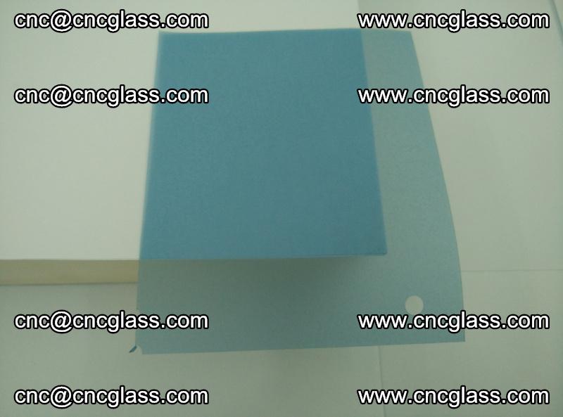EVA glass interlayer film for safety glazing royal blue (transparent) (1)