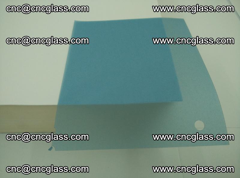 EVA glass interlayer film for safety glazing royal blue (transparent) (13)