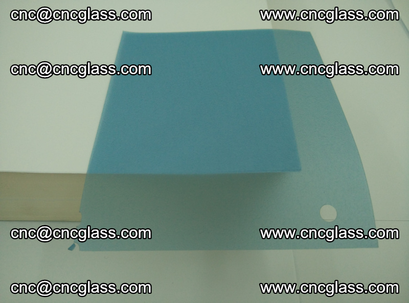 EVA glass interlayer film for safety glazing royal blue (transparent) (14)