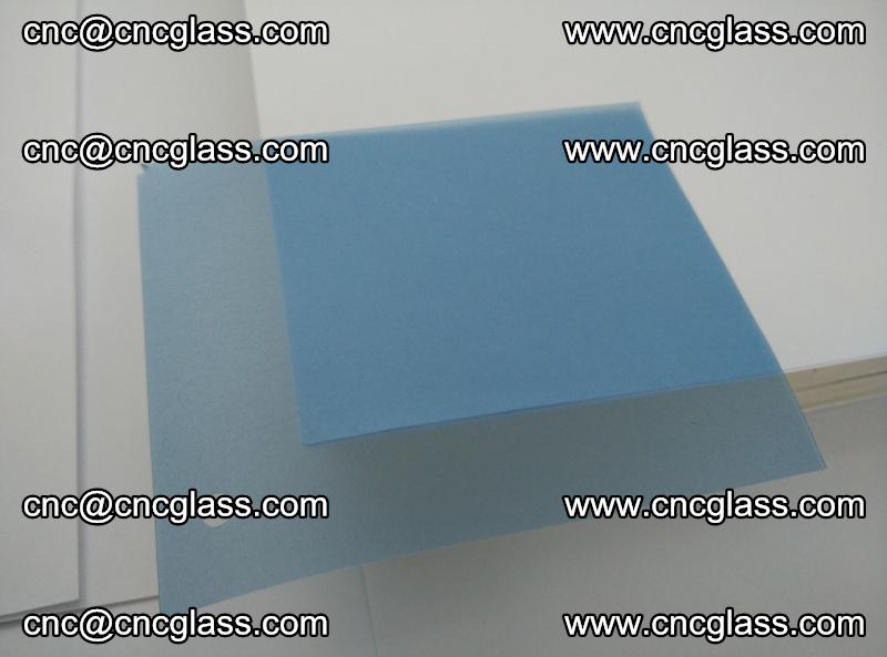 EVA glass interlayer film for safety glazing royal blue (transparent) (3)