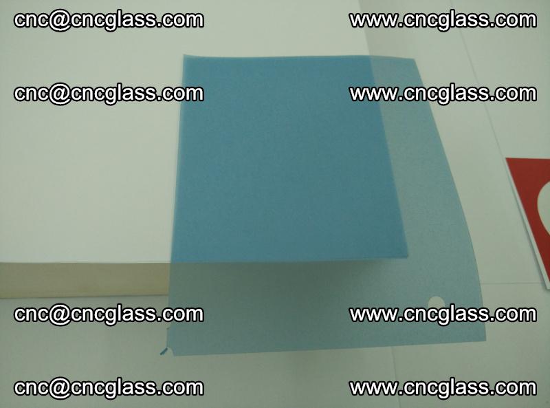 EVA glass interlayer film for safety glazing royal blue (transparent) (6)